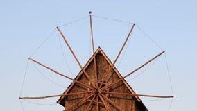 Old wooden windmill detail Nessebar