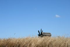 Old wooden windmill on Kizhi island Royalty Free Stock Photography