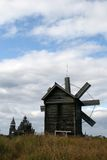 Old wooden windmill on Kizhi island Royalty Free Stock Photos