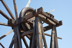 Old wooden windmill at La Palma, Canary Islands Stock Photography