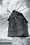 Old wooden windmill, landmark of old Nesebar Royalty Free Stock Image