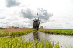Old wooden windmill. Large view on the old wooden windmill Stock Photo