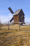 Old wooden windmill in Malye Karely (Little Karely) near Arkhang Royalty Free Stock Images