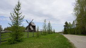 Old wooden windmill. Russia Arkhangelsk Stock Images