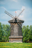 Old Wooden Windmill in Suzdal, Russia. Summer Spring Season Stock Images