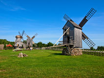 Old wooden windmills Stock Image