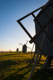 Old wooden windmills, Sweden Royalty Free Stock Photography
