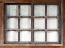 Old wooden window. With white background Royalty Free Stock Image