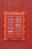 Old wooden window. Window of an old fairytale wooden house royalty free stock photos