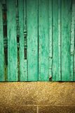 Old wooden window. On stone facade, rural Royalty Free Stock Photos