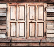 Old wooden window closed texture at background Royalty Free Stock Photography