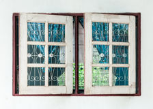 Old wooden window Stock Image