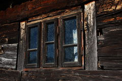 Old Wooden Window Frame Stock Image