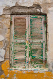 Old wooden window in Greece Royalty Free Stock Image