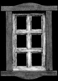 Old wooden window. Stock Photo