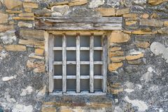 Old Wooden Window. At Mission San Juan in Texas Royalty Free Stock Photos
