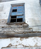 Old wooden window in ruin Stock Image