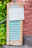 Old wooden window shutter Stock Image