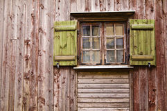 Old wooden window with shutters Stock Image