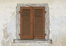 Old wooden window shutters Royalty Free Stock Images