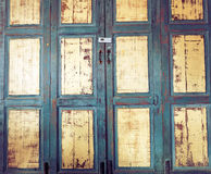 Old wooden window for Thai house style Stock Photography