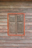 Old wooden window. Thailand traditional style Royalty Free Stock Photo