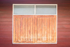 Old wooden window. Thailand traditional style. The old wooden window in Si Sa Ket, Thailand royalty free stock photography