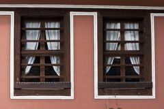 Old wooden windows Royalty Free Stock Photos