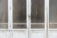 Old wooden windows. A detail windows closed and abandoned, ruin and abandonment Royalty Free Stock Image