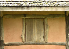 Old wooden windows in the north Royalty Free Stock Image