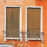Old wooden windows Royalty Free Stock Photography
