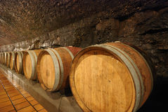 Old wooden wine barrels Stock Image