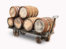 Free Old Wooden Wine Barrels Stock Image - 70024141
