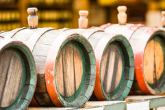 Old wooden wine cask Royalty Free Stock Images