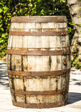 Old wooden wine cask Royalty Free Stock Image