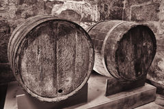 Old wooden wine cask Royalty Free Stock Photo