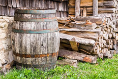 Old wooden wine cask Stock Photography