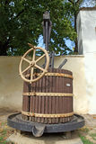 Old wooden wine press Stock Image