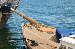Old wooden yacht Royalty Free Stock Image