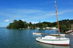Old wooden yachts - New Zealand Stock Image