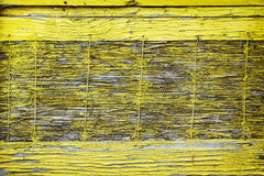 Old wooden yellow material Stock Image