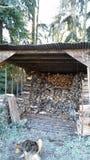 Old woodshed stock photos