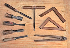 Old woodworking tools Stock Photography