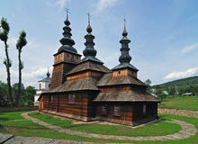 Old woody church. Orthodox church, old achitecture, woody building, monument royalty free stock photos