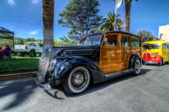 Old Woody Wagon Royalty Free Stock Photos