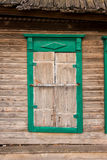 Old woody window. Old wooden window in a dirty Royalty Free Stock Images