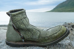 Old Work Boot. Worn-out old work boot Royalty Free Stock Photos