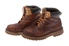 Old work boots Royalty Free Stock Photos