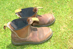 Free Old Work Boots Royalty Free Stock Photography - 22355087