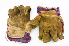 Old work gloves Stock Image